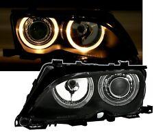 Angel Eyes Scheinwerfer Set in Schwarz für 3er BMW E46 Limo + Touring 10/01-3/05