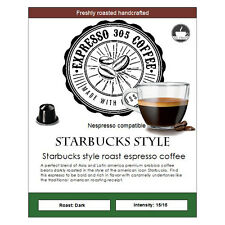 50 Starbucks Style Nespresso capsules pods compatible FRESHLY ROASTED coffee