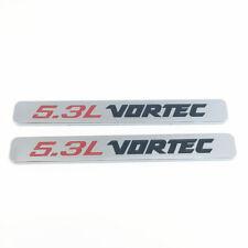 Fits 2pcs 5.3L VORTEC Badge Emblems 3D Decal 1500 2500hd Silverado Chrome New