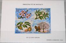 MONACO 1993 Maury 1901A Block 57 B Vier Jahreszeiten Amandier Flora Trees MNH