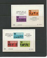 MEXICO 1968 OLYMPICS SC 975a 983a 985a C310a C311 C320a C329a 7 MNH SOUV. SHTS