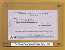 VINTAGE AUTHENTIC ORIGINAL DODGERS PLAYER RELEASE AUTOGRAPH SEE SCANS w/ COA