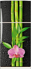 Sticker frigo fleur bambou 70x170cm réf 508