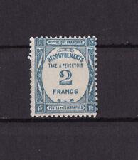 timbre France TAXE   2f  bleu       num: 61     **