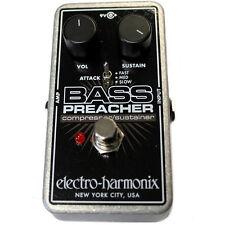 Electro-Harmonix Bass Preacher Compressor / Sustainer Guitar Pedal +Picks