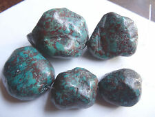 "6 3/4"" Strand 28-47mm Long Turquoise Nugget Stone Beads Pendants A37A DNG"
