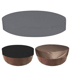 More details for hot tub cover round outdoor spa foldable weather resistant waterproof anti uv