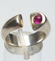 """Massiver Designer Ring 925 Sterling Silber Meisterpunze """"BS"""" Rubin RG 56717,8"""