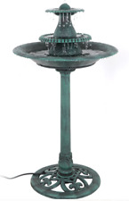 Bird Bath Wildlife Outside Garden Yard Water Fountain Pedestal Decor Patio