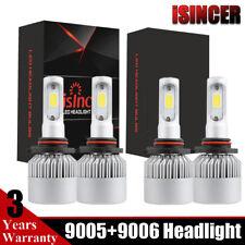 4X Combo 9005 9006 LED Headlight Kit Total 476000LM HB3 High-Low Beam 6000K NBA