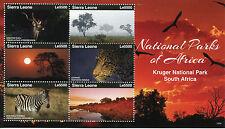 Sierra Leone 2015 MNH National Parks of Africa Kruger 6v M/S II Trees Stamps
