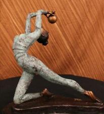 Rhythmic Gymnast Olympic Memorabilia by Collett Bronze Sculpture Hotcast Figure