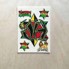 Alva skateboards vinyl sticker vintage rasta Jef Hartsel 80s 90s lion jah NOS