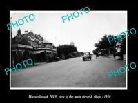 OLD 8x6 HISTORIC PHOTO OF MUSWELLBROOK NEW SOUTH WALES MAIN ST & SHOPS c1930