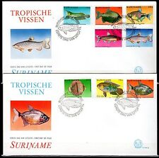 Suriname - 1980 Fish - Mi. 910-17 clean FDC's