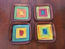 GAIL PITTMAN Small Square Plate Set (4) Signed Southern Living at Home