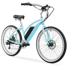 """Firmstrong Urban Lady 26"""" 350W 7 Speed Beach Cruiser Electric Bicycle Baby Blue"""