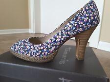 🌸 Tamaris Peeptoe Pumps Schuhe 🌸🌹🌸  Damen Gr. 39 Blümchen Blumen NEU 🌸🌹🌸