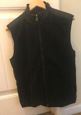 Banana Republic Mens Size Small Black Zip Up Fleece Vest