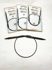 Knitpro GINGER circular needles 2-12 mm, 40cm, wooden needles