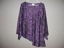 Laundry by Shelli Segal Los Angeles Womens Size S Silky Like Asymmetrical Blouse