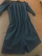 Denim Bardot Playsuit  Size M