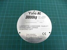 1 x Columbus McKINNON Typenschild Yale AL 3000kg; 209195