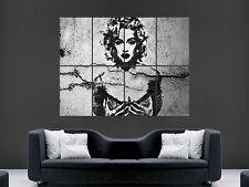 Madonna Banksy Estilo Graffiti Arte Pared Poster Foto Impresión Grande Enorme
