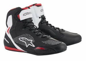 """Alpinestars """"Faster-3 Rideknit"""" in Schwarz-Weiß-Rot, Größe 41 - 8,5, Schuhe"""