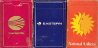 3 historic airline card decks National, Eastern and Continental