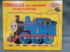 Vintage/Rare Thomas the Tank Engine 1984 Tip and Fit Playtray-Wooden Puzzle