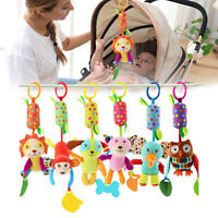 Baby Hanging Rattle Stroller Accessories Decor Plush Animal Toy Cute Gift