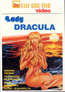 Lady dracula, dvd, uncut, German and French audio, new!, jean rollin