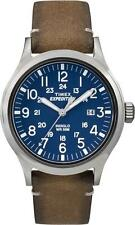 TW4B01800 Timex Mens Expedition Analog Elevated Tan Leather Strap Watch