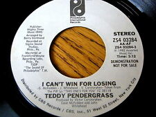 "TEDDY PENDERGRASS - I CAN'T WIN FOR LOSING     7"" PROMO"