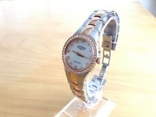 Rotary Ladies Rose Gold Mother of Pearl Dial Stainless Steel Watch