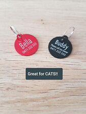 $3.80!! SUPERB Quality! SML ROUND Pet Tag, Cat / Dog ID Tag, FREE Engrave & Post