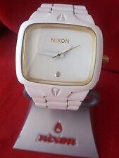 """Nixon """"The Player"""" (White & Gold) 100M Custom Miyota Japanese Movement [12C]"""