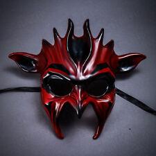 Red Venetian Demon Alien Devil Masks Men Masquerade Halloween Costume Party