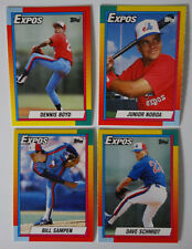 1990 Topps Traded Montreal Expos Team Set of 4 Baseball Cards