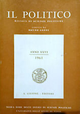IL POLITICO ANNO XXVI 1961 INTERA ANNATA UNIVERSITà DEGLI STUDI DI PAVIA GIUFFRè