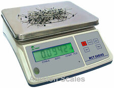 33 x 0.001 LB DIGITAL COUNTING PARTS COIN SCALE 15 KG x 0.5 GRAM INVENTORY PAPER