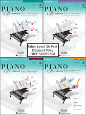 Faber Piano Adventures Level 3A - Four Book Pack (Lesson/Theory/Perf/Technique)