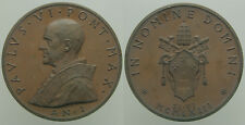 Medaglia Papa Paolo VI In Nomine Domine Anno I 1963 - Ae mm50