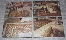 4 Vintage Isle of Wight Postcards - Roman Villa, Newport - Bath Block, Mosaics