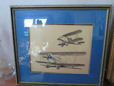 Frame Rare Walter Lantz Bi Plane Signed with Certificates Lithograph Numbered