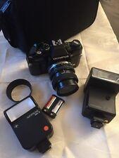Funda neopreni cámara reflex Olympus om 40 con lente Zuiko 1:3. 5-4.5 f35-70mm
