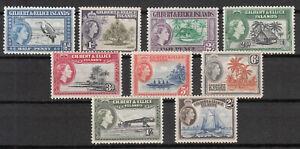 "Gilbert & Ellice Islands - 1956 QEII set to ""2sh"" Sc# 61/69 - MNH (7882)"