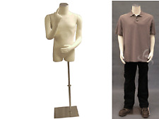 Male Dress Form with flexible arms Mannequin  Manikin Dress Form #M01arm+BS-05