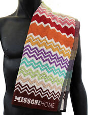 MISSONIHOME FITNESS GYM TOWEL COTTON RUFUS 159 BRANDED PACKAGING 45x100cm LOGO